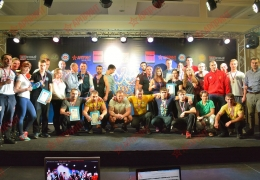 Оформление мероприятий - Чемпионат Санкт-Петербурга по армспорту, компания АРПРИНТ - генеральный спонсор соревнований